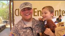 Soldier Plans Surprise Reunion with Son at Minnesota Zoo