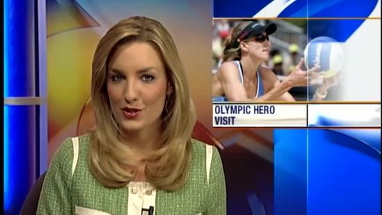 Olympian Kerri Walsh makes special visit to North Salinas