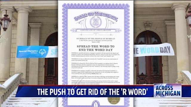 Michigan Pushes To Eliminate The `R-Word` Forever