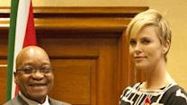 Charlize Theron Meets South African President