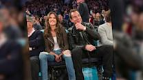 Alessandra Ambrosio & Will Arnett Film Scenes At Knicks Game