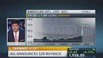 AIG beats on top, bottom line