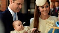 Britain's baby Prince George is christened in London