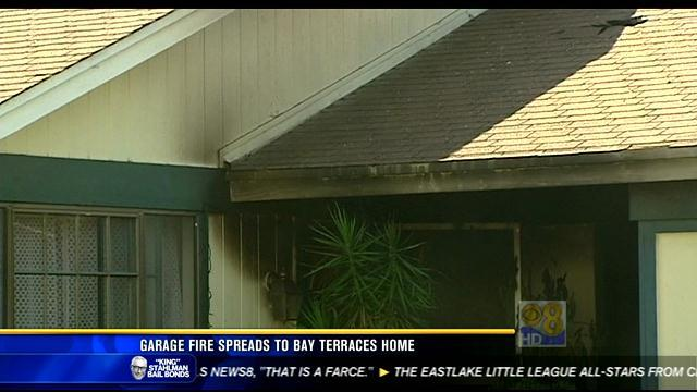 Garage fire spreads to Bay Terraces home