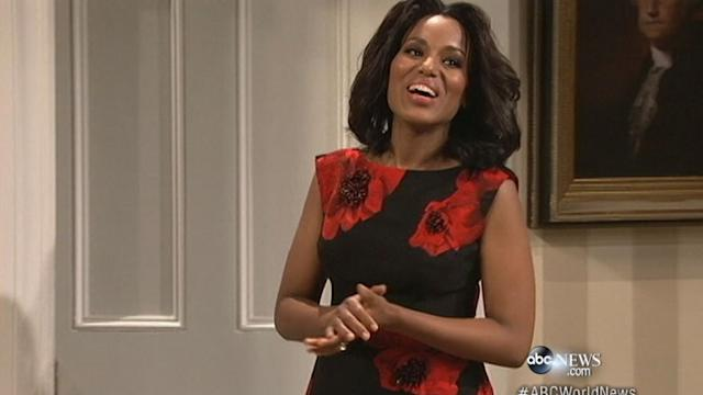 Kerry Washington Takes Race Controversy Head on With 'SNL'
