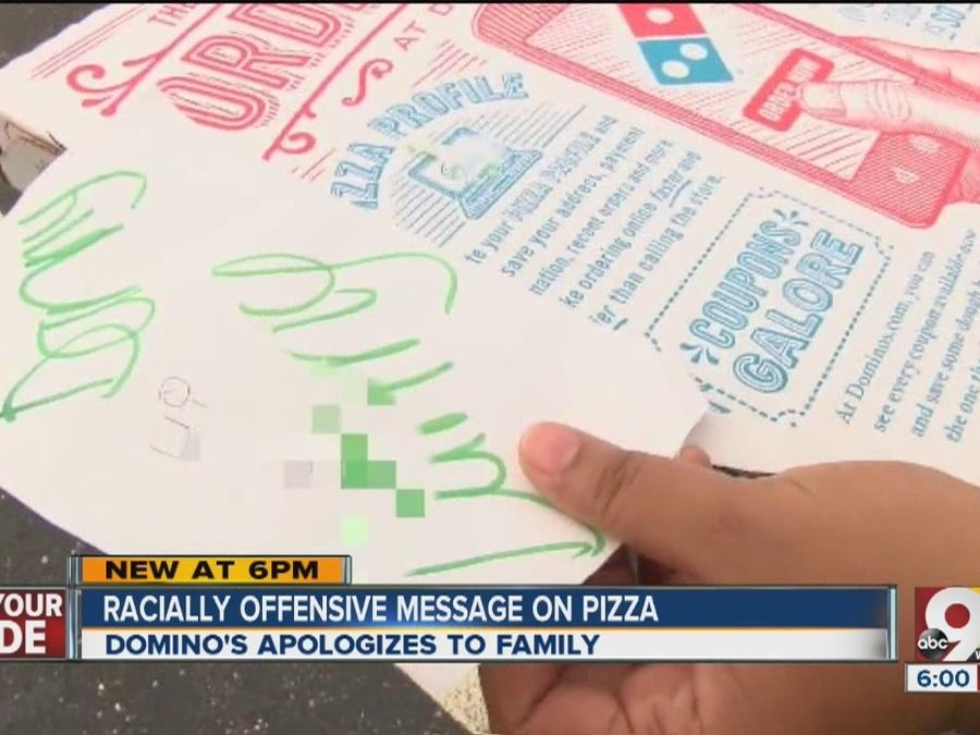Did Domino's serve up offensive note with pizza order?