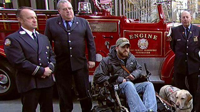 FDNY helps disabled vets get track chairs
