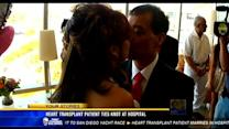 Heart transplant patient ties the knot at hospital