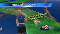 Scattered storms expected on Tuesday