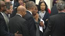 Mayor Nutter stops budget speech amid protests (PHOTOS)
