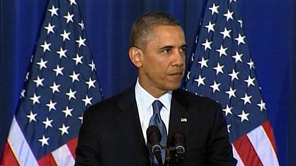 Obama sees narrower terror threat, defends drones