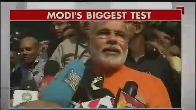 Gujarat polls: Modi votes, claims his victory