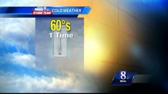 Expect brisk, cool conditions today