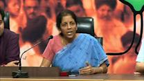 Congress acquired SEZ lands, not BJP. Congress is anti-farmer: Sitharaman
