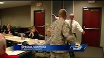 Army sergeant surprises his mom before Mother's Day
