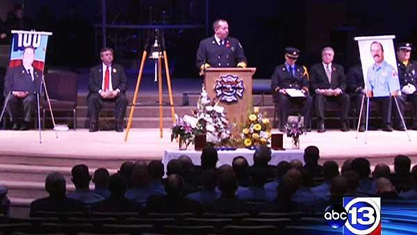 Bryan firefighters remembered in memorial service