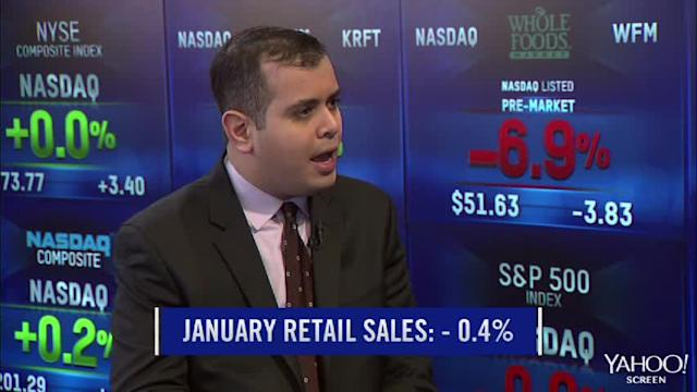 Retail sales numbers reaction