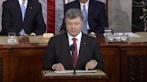 Ukrainian president makes emotional appeal to U.S. Congress for support