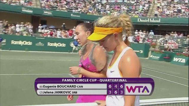 Bouchard defeats Jankovic in quarter-finals in Charleston