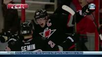 Tlusty helps Eric Staal score off the faceoff