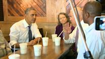 Obama, Biden Step Out for Shake Shack