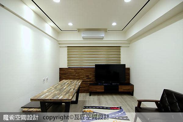 客餐廳場域共用機制,讓餐敘或閒坐沙發時均可享受電視影音。