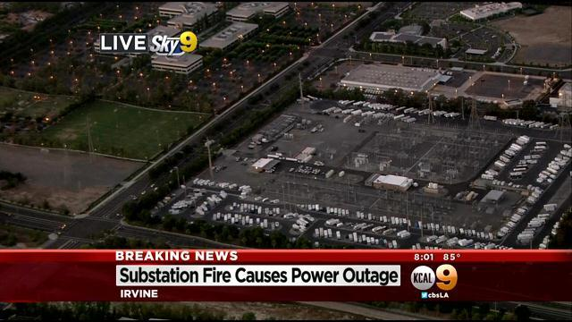 Fire At SoCal Edison Substation Knocks Out Power In Irvine