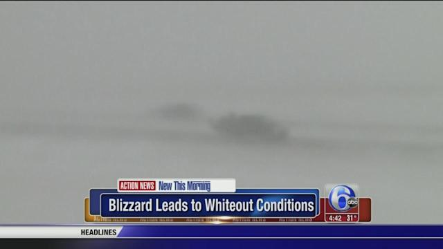 Blizzard leads to whiteout conditions in Fargo