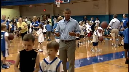 UK coach Calipari holds basketball camp for children