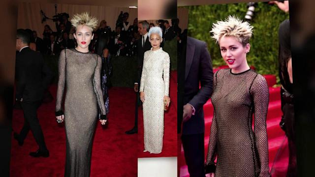 Miley Cyrus and Nicole Richie Seriously Embrace Punk Theme at Met Ball