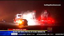 805 freeway shut down after pileup in early morning fog