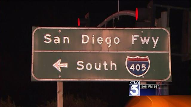 Section of 405 Freeway to Close for Construction Early Sunday