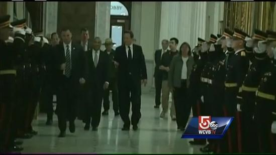 British PM Cameron offering support to Boston after bombings