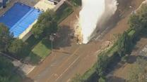 Broken water main floods UCLA campus