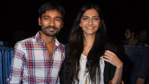 Spotted Raanjhanaa Dhanush with Sonam Kapoor at Chandan Cinema