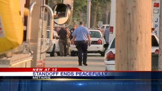 Metairie standoff ends peacefully