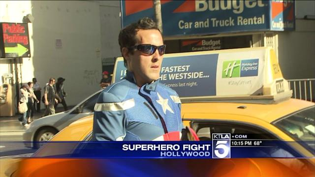 Police Called to `Superhero` Fight in Hollywood