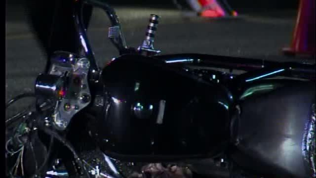 Motorcyclist critically injured after head-on collision
