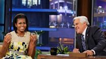 First lady jokes about Olympic moment on Leno