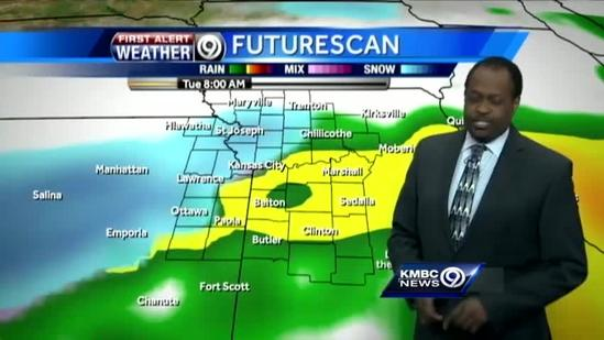 Rounds of showers, snow expected overnight