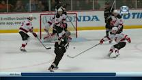 Penner's no-look pass for Getzlaf to blast