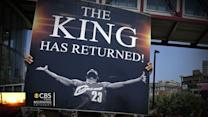 King James returning to Cleveland throne
