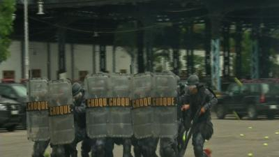 French Train Brazilian Police on Riot Response