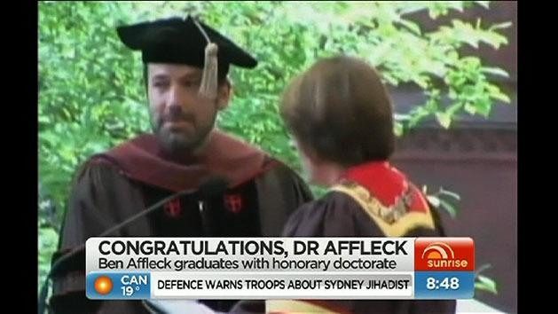 Affleck receives honourary doctorate