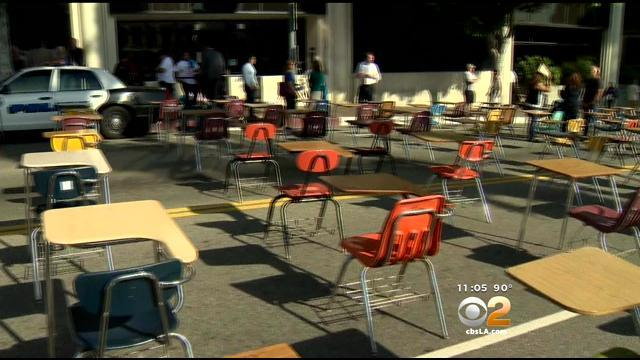 LAUSD Students Camp Out, Stage Protests Over New 2014-2015 Budget