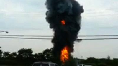 Raw: Train Derailment and Explosion in Md.