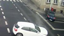 Lamp Post Saves Woman From Out-of-Control Car