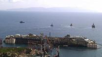 Raw: Costa Concordia Prepares for Towing