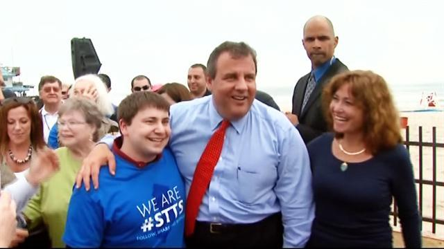 N.J. Gov. Christie reopens the Jersey shore