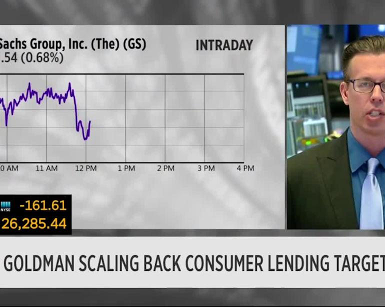 MARKETS: Why Goldman Sachs is pulling back on its subprime consumer loans